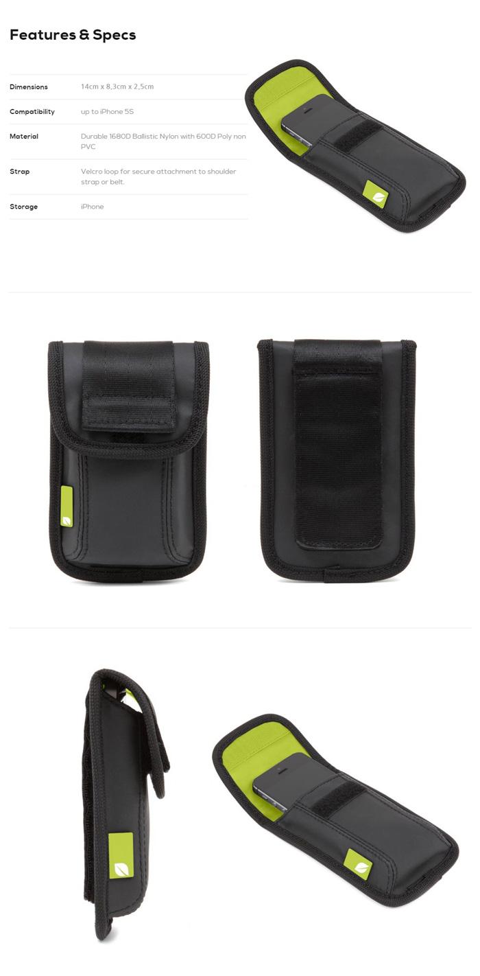 [인케이스]INCASE - Range Iphone Pouch CL69401 (Black/Lumen) 인케이스코리아 정품 AS가능