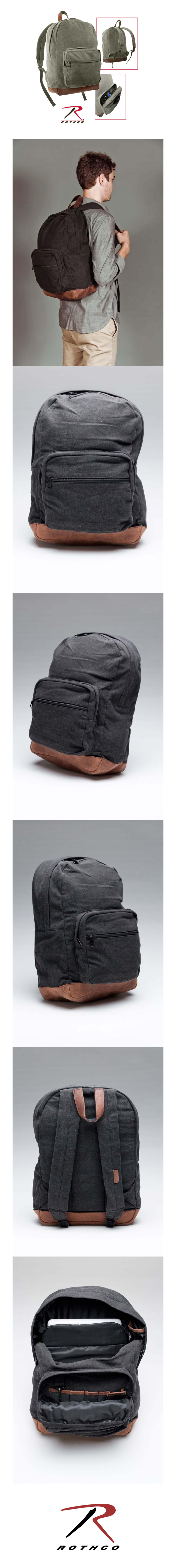CANVAS TEARDROP PACK OLIVE WITH LEATHER