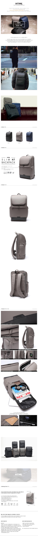 [에이치티엠엘]HTML - Slim H7 Backpack (DK.GRAY) 백팩