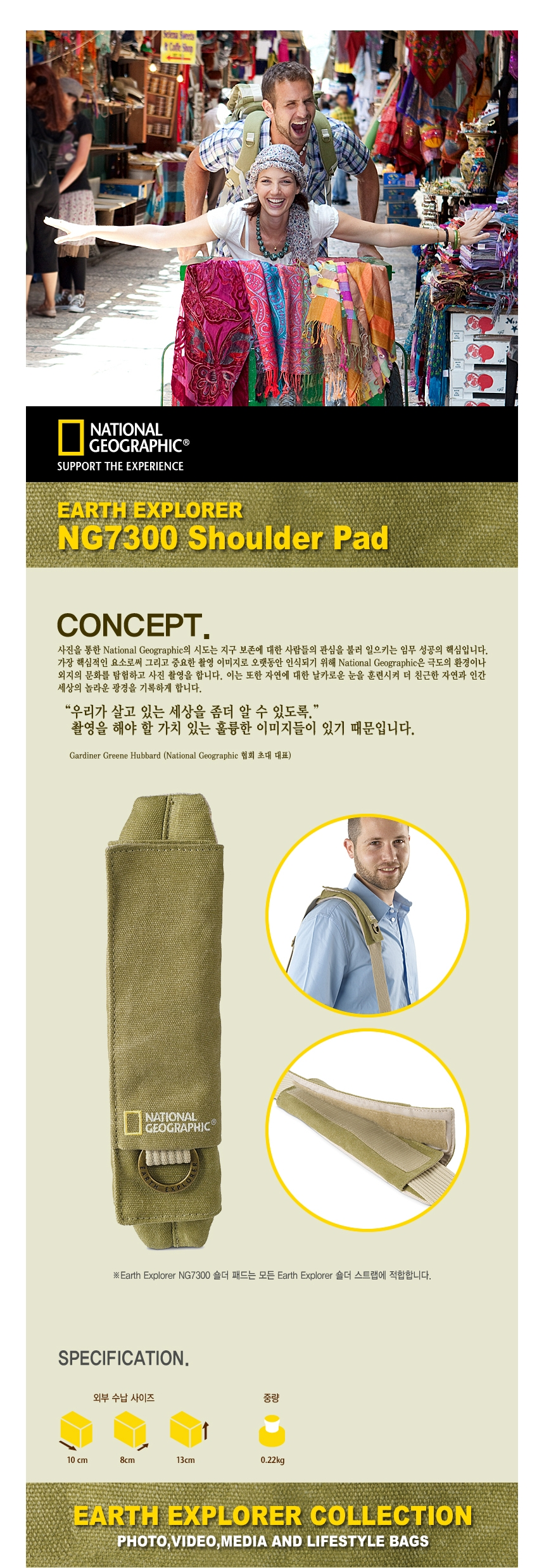 NATIONAL GEOGRAPHIC - (세기정품) NG7300 Shoulder Pad