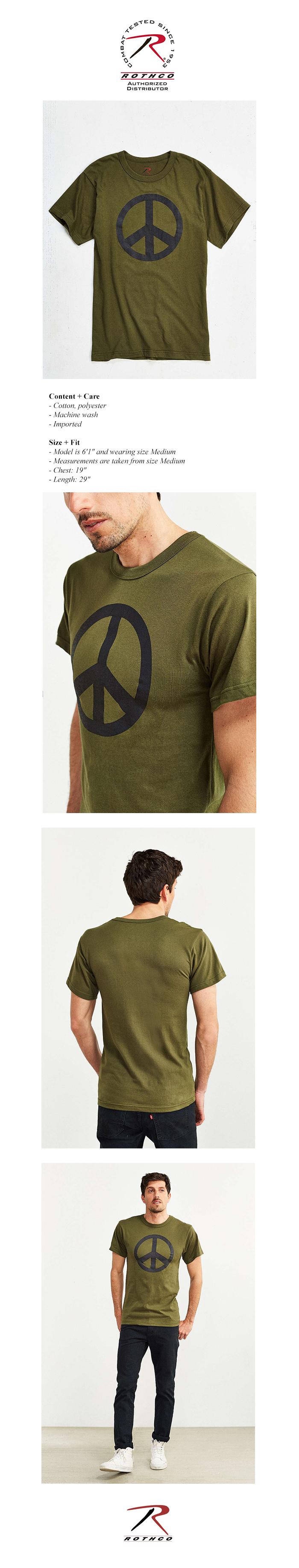 PEACE OLIVE TEE