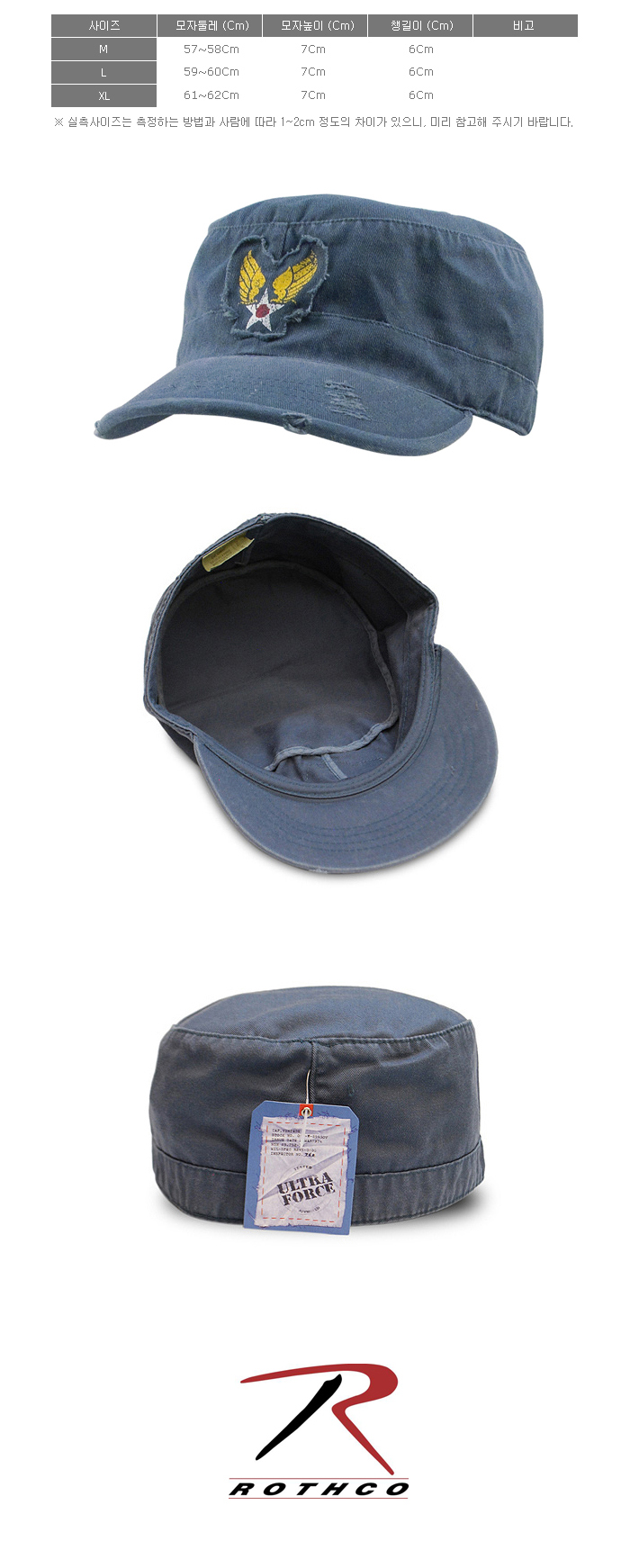 VINTAGE BLUE WASHED WINGED STAR FATIGUE CAP