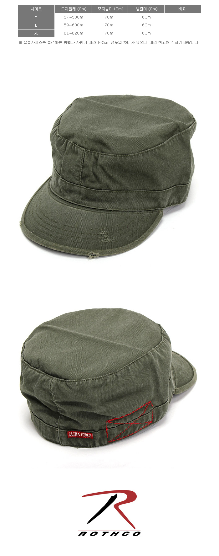 VINTAGE SOLID OLIVE FATIGUE CAP