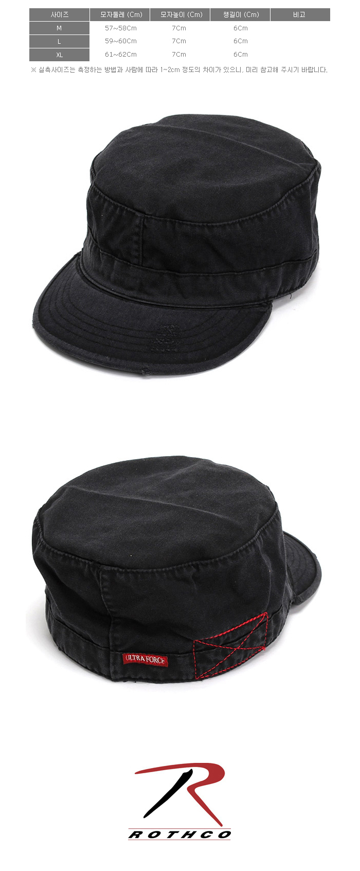 VINTAGE SOLID BLACK FATIGUE CAP