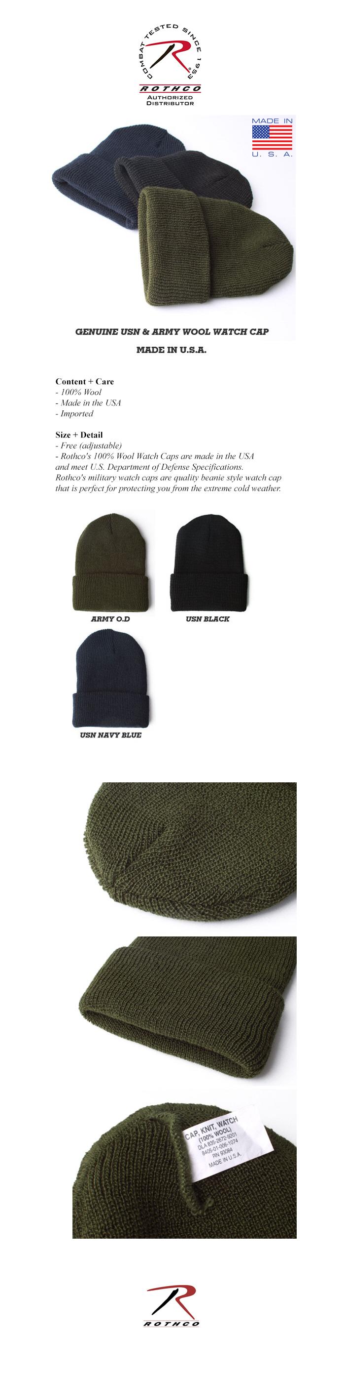 GENUINE USN WOOL WATCH CAP (3 COLORS)