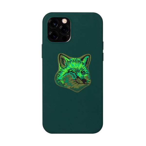 [네이티브 유니온 x 메종키츠네] COOL-TONE FOX HEAD CASE FOR IPHONE 12 / 12 PRO GREEN